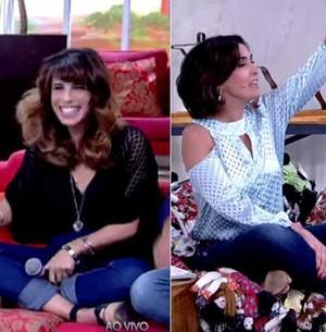 Fátima Bernardes brinca com atriz e gera 'sentaço'  (TV Globo)