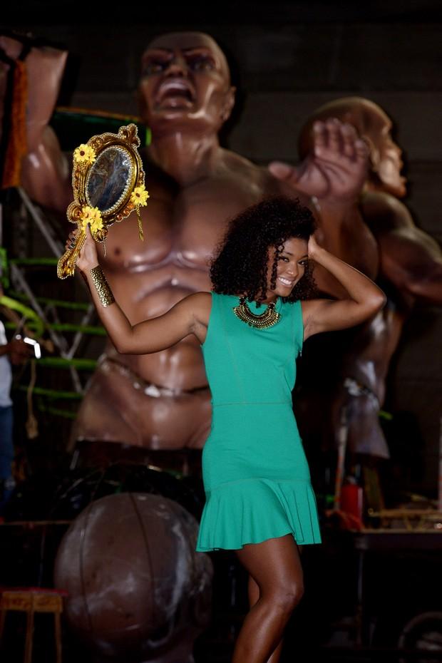 Erika Januza representará Oxum na Império da Tijuca (Foto: Diego Mendes/Divulgação)