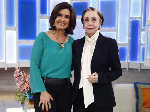 Fátima Bernardes participa de Babilônia em cena com Fernanda Montenegro (Foto: Raphael Dias/Gshow)