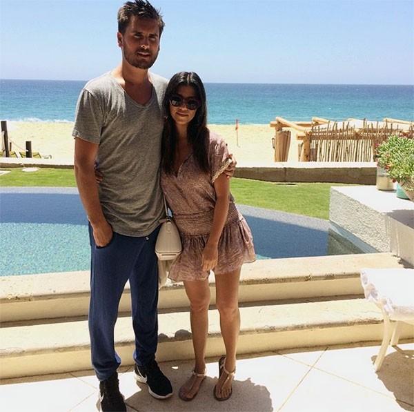 Scott Disick e Kourtney Kardashian (Foto: Instagram)
