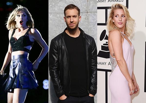 Taylor Swift, Calvin Harris e Ellie Goulding (Foto: Getty Images)