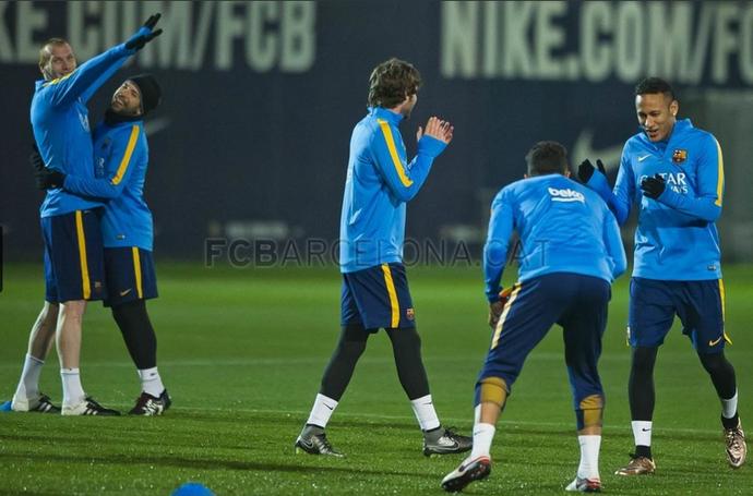 Neymar treino Barcelona (Foto: Victor Salgado / Barcelona)
