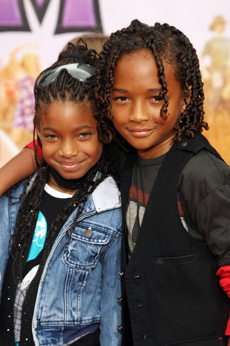 Jaden com a irmã Willow Smith em 2009 (Foto: Getty Images)