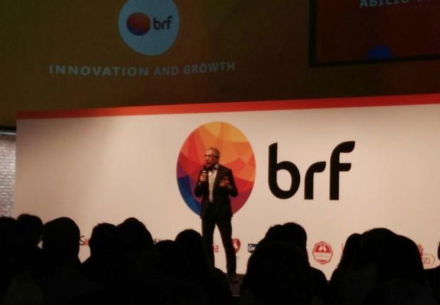 Abilio Diniz, presidente do conselho da BRF, em fala nesta segunda (Foto: Daniela Frabasile)