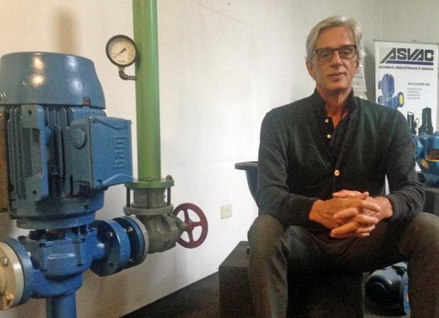 César Prata, dono da Asvac Bombas, que afirma operar com 40% da sua capacidade (Foto: Arquivo Pessoal)