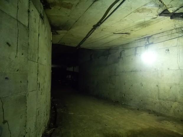 Túneis da estação estão praticamente intactos (Foto: Divulgação/Luis Henrique Barroso)