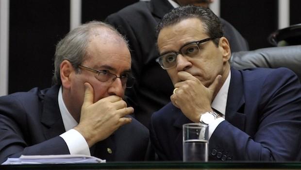 Eduardo Cunha e Henrique Eduardo Alves na Câmara dos Deputados (Foto: Luis Macedo/Câmara dos Deputados)