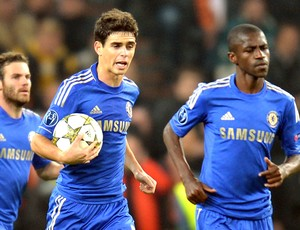 OScar, Shakhtar e Chelsea (Foto: Agência AFP)