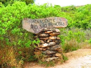 Nascente do Rio São Francisco na Serra da Canastra (Foto: Daniela Labonia/Divulgação)
