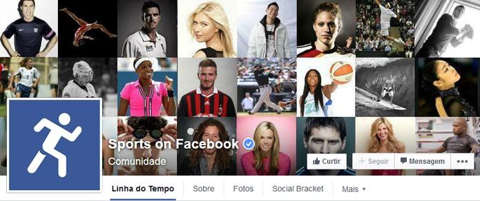Esporte no Facebook (Foto: Reprodução/Facebook)