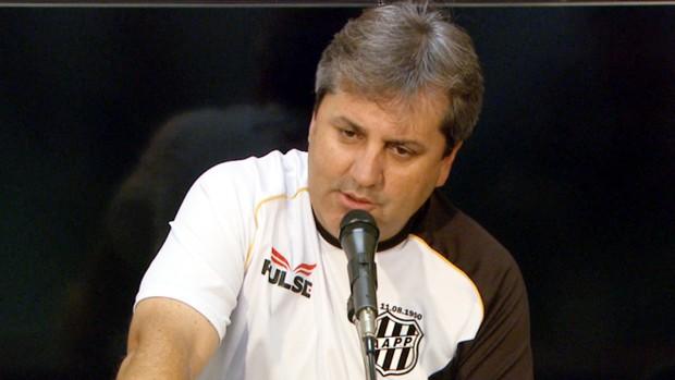 Gilson Kleina, técnico da Ponte Preta (Foto: Reprodução / EPTV)
