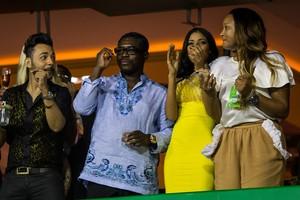 Presidente da Beija-Flor defende enredo, e embaixador elogia 'laços' (Daniel Marenco/Folhapress)