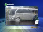 Motorista morre em acidente entre carro e ônibus em Braúna, SP