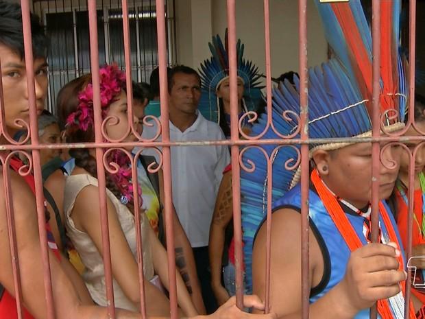 Indígenas ocupam Casai em Santarém (Foto: Reprodução/TVTapajós)