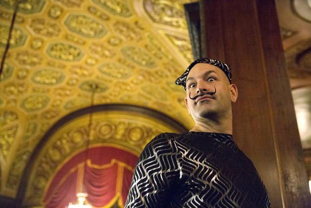 Na categoria bigode de Dalí, o título ficou com Keith Haubrich, (Foto: Elizabeth Shafiroff/Reuters)