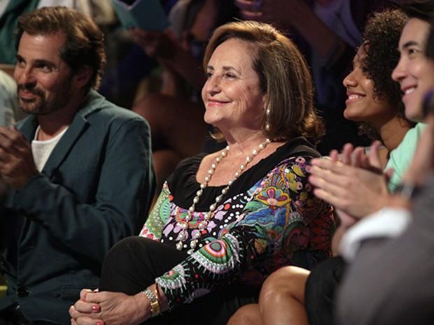 Lucinha Araújo na plateia da Marra Brasil  (Foto: Pedro Curi / TV Globo)