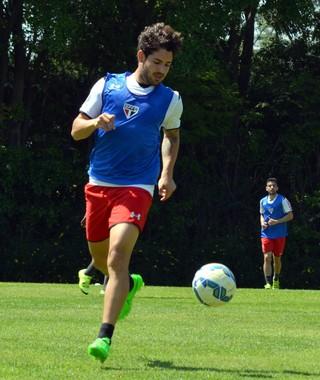 Alexandre Pato São Paulo treino (Foto: Érico Leonan / saopaulofc.net)