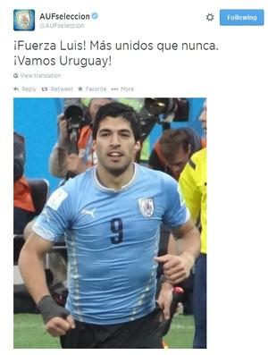Seleção uruguaia se manifesta sobre o caso (Foto: Reprodução/Twitter)