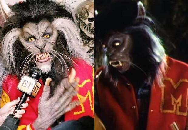 Heidi Kum vai fantasiada homenageia Michael Jackson e vai de lobisomem à sua festa de Halloween (Foto: Reprodução)