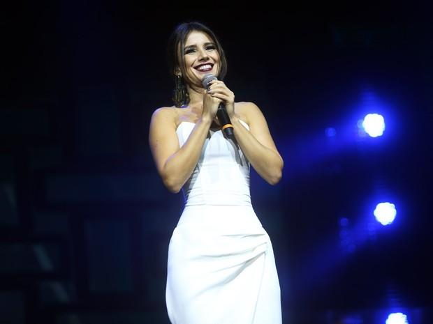 Paula Fernandes em gravação de DVD em São Paulo (Foto: Iwi Onodera/ EGO)