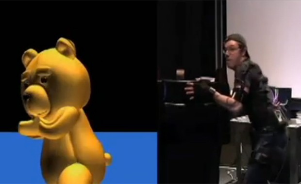 Diretor Seth MacFarlane comanda nos bastidores os movimentos do urso em 'Ted' (Foto: Reprodução)