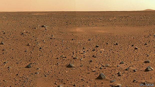 Químico de instituto americano apresentou na Itália teoria sobre vida ter surgido em Marte. (Foto: Nasa/BBC)