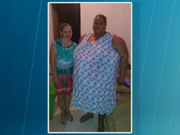 Eliana do Rosário Amaral pesava 245 quilos (Foto: Reprodução/TV Subaé)