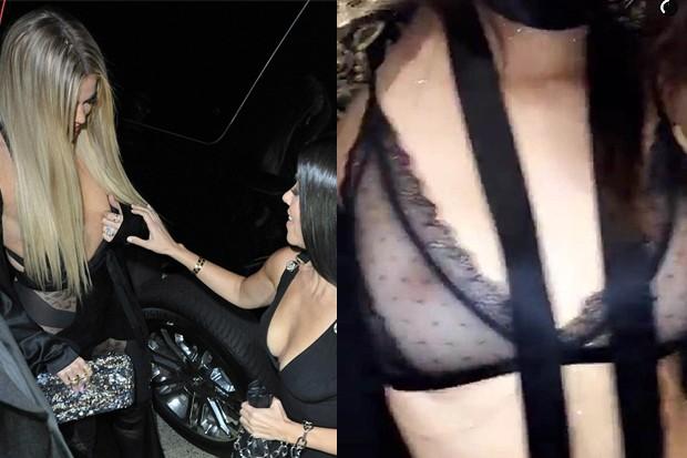 Kardashians roubam a cena no niversário de Gigi Hadid (Foto: Snapchat/Reprodução)