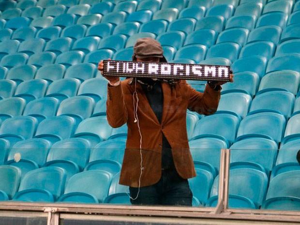 Racismo Grêmio x Santos (Foto: Diego Guichard/GloboEsporte.com)