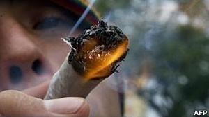 Médicos britânicos fazem alerta contra a maconha (Foto: AFP/BBC)