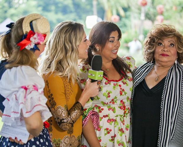 Angélica, Giovanna, Fabiana Karla e Alcione (Foto: Fabiano Battaglin/Gshow)