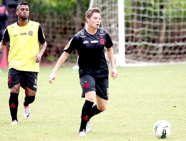 Adryan no treino do Flamengo (Foto: Cezar Loureiro / Agência O Globo)
