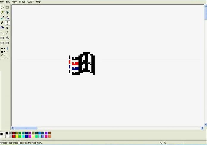 Paint no Windows 95 (Foto: Reprodução/YouTube)