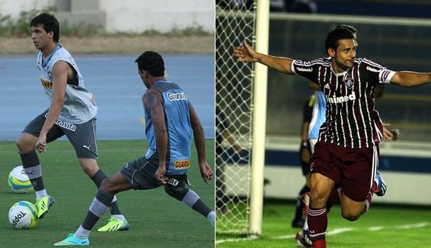 Zeballos faz seu primeiro treino e Fred marca em seu retorno (Foto: divulgação / reprodução)
