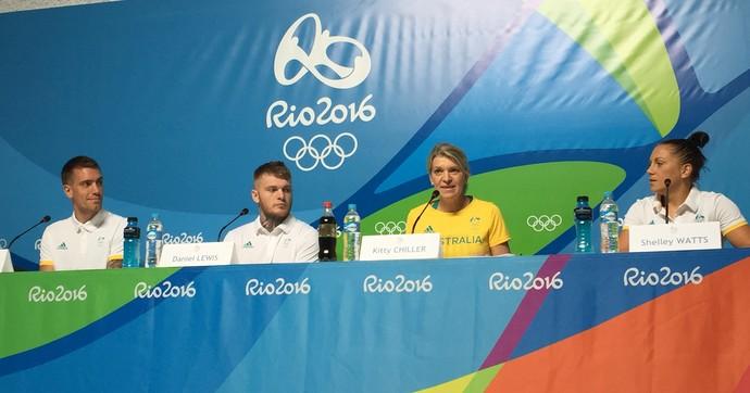 Coletiva da Austrália na Vila dos Atletas da Rio 2016 (Foto: Gustavo Rotstein)