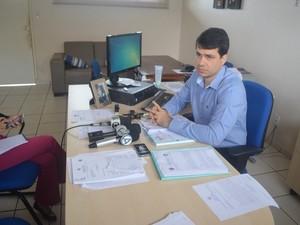 Delegado fala sobre as investigações da morte do ex-prefeito de Andreazza (Foto: Rogério Aderbal/G1)