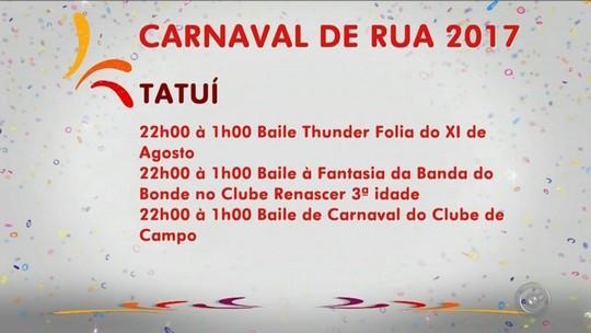 Confira a programação do carnaval na região nesta segunda-feira