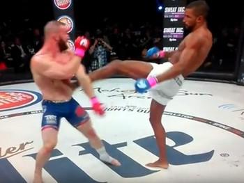 Rafael Carvalho e Brandon Halsey Bellator 144 MMA (Foto: Reprodução)