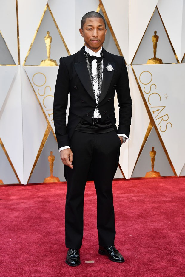 HOLLYWOOD, CA - FEBRUARY 26: Producer Pharrell Williams attends the 89th Annual Academy Awards at Hollywood & Highland Center on February 26, 2017 in Hollywood, California.  (Photo by Frazer Harrison/Getty Images) (Foto: Getty Images)