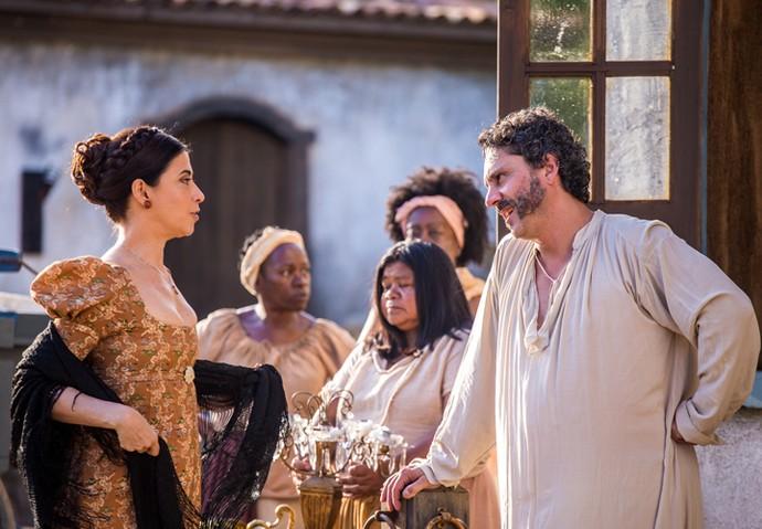 Fernanda Torres e Alexandre Nero são os protagonistas de 'Filhos da Pátria' (Foto: Paulo Belote/ TV Globo)
