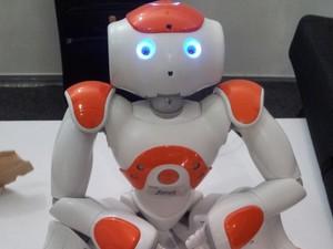 Robô Nao possui inteligência artificial avançada (Foto: Orlando Neto/G1)
