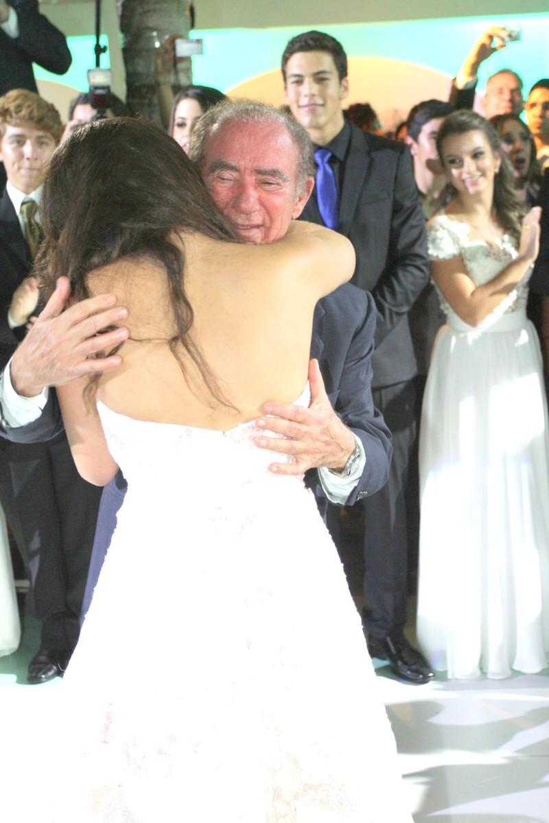 Renato Aragão e a filha, Lílian Aragão (Foto: Roberto Valverde/Revista QUEM)