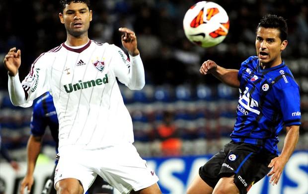 Gum na partida do Fluminense contra o Huachipato (Foto: EFE)