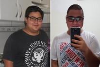 Dieta e exercício fazem jovem emagrecer 35kg (Editoria de Arte)