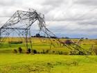 Queda de sete torres deixa oito municípios sem energia elétrica