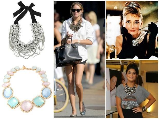 f278ffe24 Maxi colares são acessórios queridinhos das fashionistas (Foto: Divulgação)