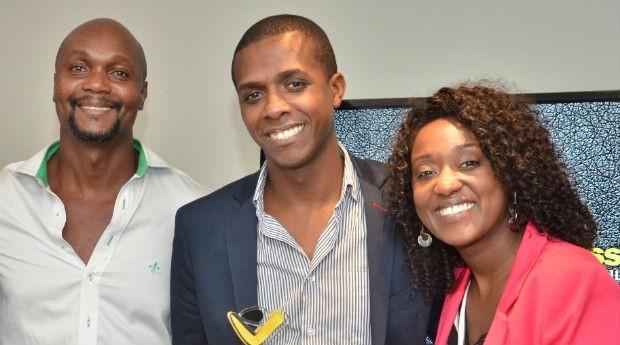 Os fundadores da Afrobusiness Marcio Valêncio, 47,  Sergio All, 42, e Fernanda Ribeiro, 31 anos (Foto: Divulgação)
