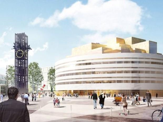Este será o novo palácio de governo de Kiruna  (Foto: Henning Larsen Architects AS)