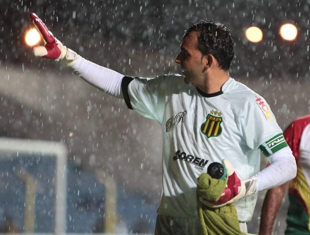 Goleiro do Sampaio Corrêa-MA, Rodrigo Ramos, é ídolo da torcida do clube (Foto: Biaman Prado/O Estado)