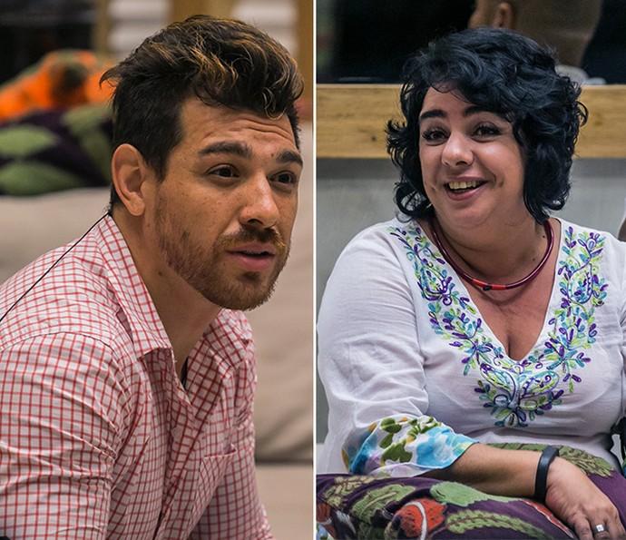 Cézar venceu Mariza com uma diferença de apenas 0,44 no BBB15 (Foto: Tv Globo)